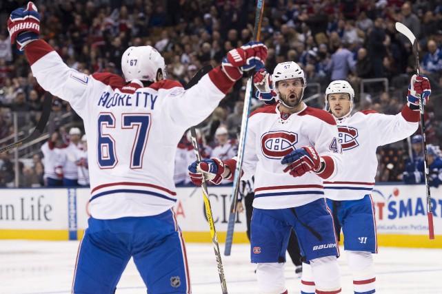 La première moitié de la saison du Canadien... (La Presse canadienne, Nathan Denette)