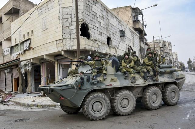Cette photo, fournie par le ministère russe de... (AP, Service de presse du ministère russe de la défense)