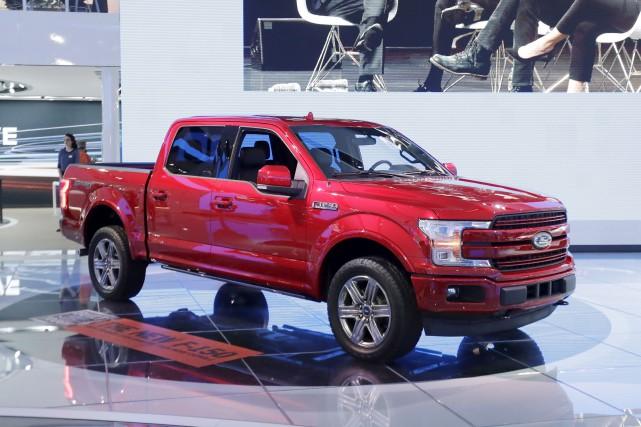 Le constructeur automobile Ford, qui présentait sa nouvelle... (AP, Carlos Osorio)