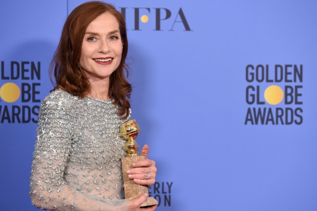 Pour une Isabelle Huppert (photo) en France ou... (AFP, Robyn Beck)