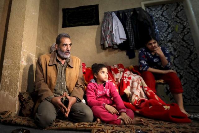 Le Palestinien Fouad Abou Khaled a fui la... (AFP, Anwar Amro)