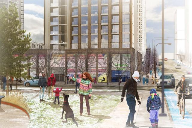 Le promoteur Claridge Homes a dévoilé lundi un projet de développement... (Courtoisie)