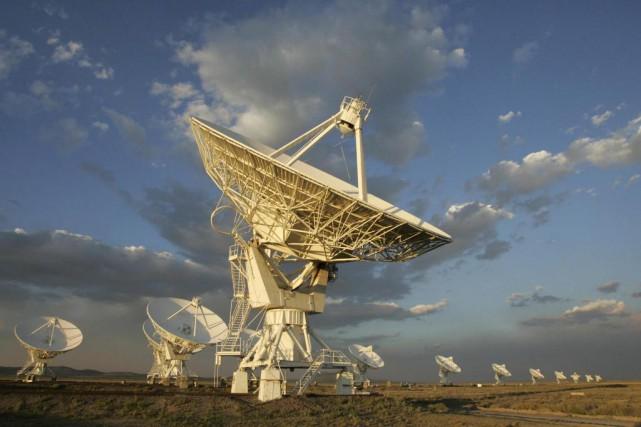 En utilisant le radiotélescope VLA KarlG.Jansky, au Nouveau-Mexique... (ARCHIVES AFP)