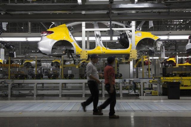 Un usine de Kia à Pesqueria, au Mexique....