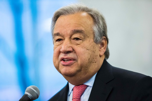 Antonio Guterres a succédé au Sud-Coréen Ban Ki-moon... (photo Eduardo Munoz Alvarez, archives AFP)