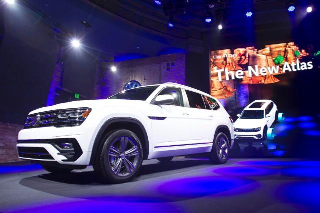 Volkswagen a montré son nouveau (et gros) VUS... (Photo : AFP)