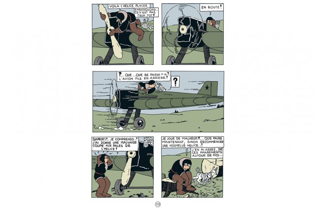 Une planche de Tintin au pays des Soviets.... (Photo tirée du site officiel de Tintin)