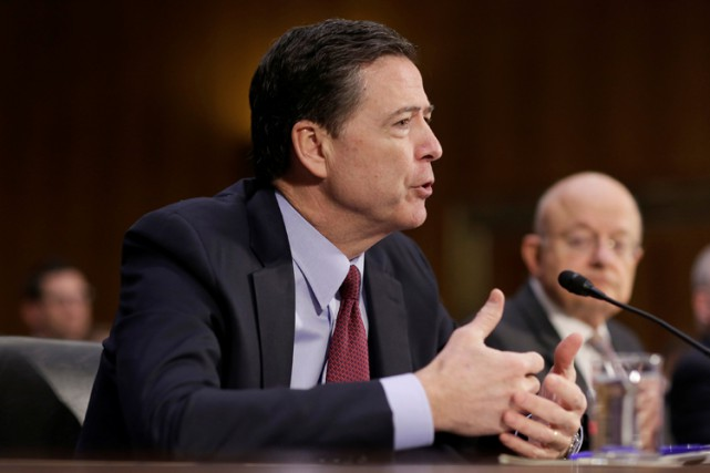 Le directeur du FBI, James Comey.... (PHOTO ARCHIVES REUTERS)