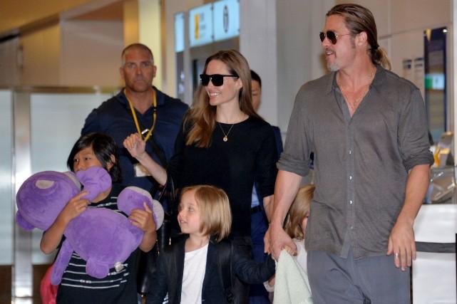 Angelina Jolie et Brad Pitt en des temps... (Photothèque Le Soleil)