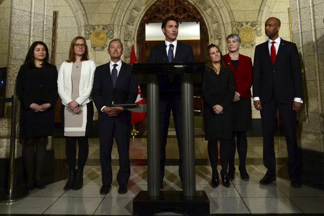 Le premier ministre Justin Trudeau a rencontré la... (La Presse canadienne)