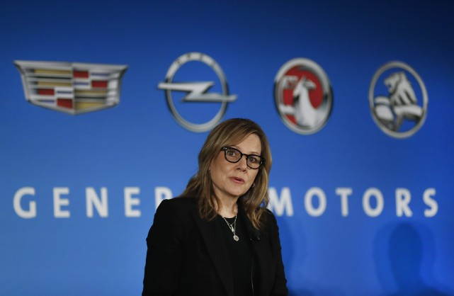 La PDG de General Motors Mary Barra a... (photo : AP)