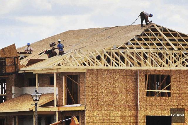 La cadence des mises en chantier au Canada a été à la hausse le mois dernier,... (Etienne Ranger, Archives Le Droit)