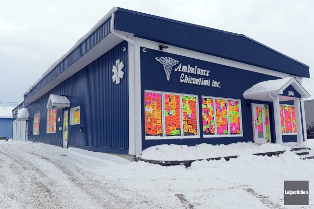Les locaux de l'entreprise Ambulance Chicoutimi ont été... (Photo Le Quotidien, Jeannot Lévesque)