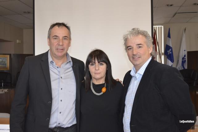 Marco Cailloni, Daniela Bardelli et Serge Simard pensent... (Photo Le Quotidien, Louis Potvin)
