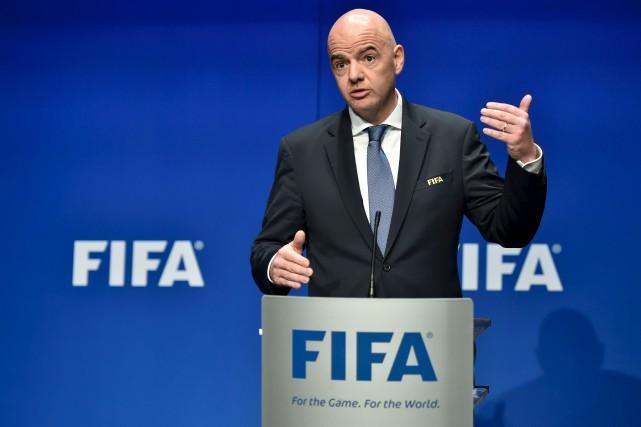Gianni Infantino, le président de la FIFA, a... (AFP, Michael Buholzer)