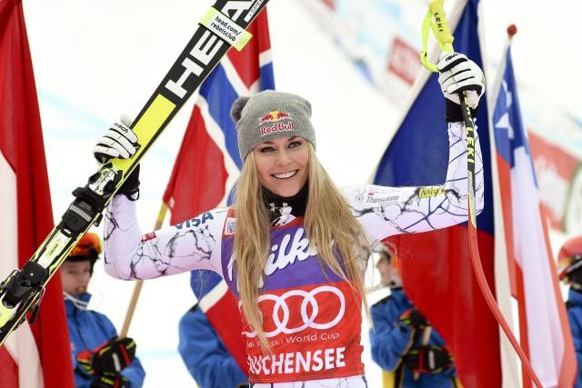 Lindsey Vonn estabsente de la compétition depuis février... (Photo Pier Marco Tacca, archives AP)