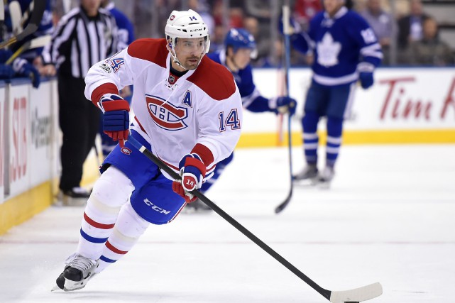 Tomas Plekanec est ennuyé par un virus.... (Photo Dan Hamilton, USA Today Sports)