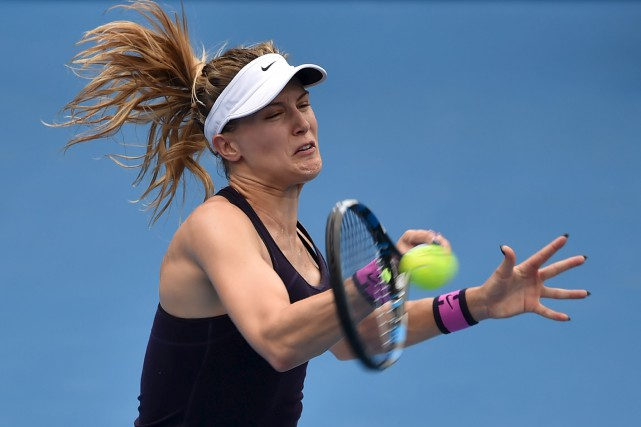 Eugenie Bouchard a défait Anastasia Pavlyuchenkova en deux... (AFP, PETER PARKS)