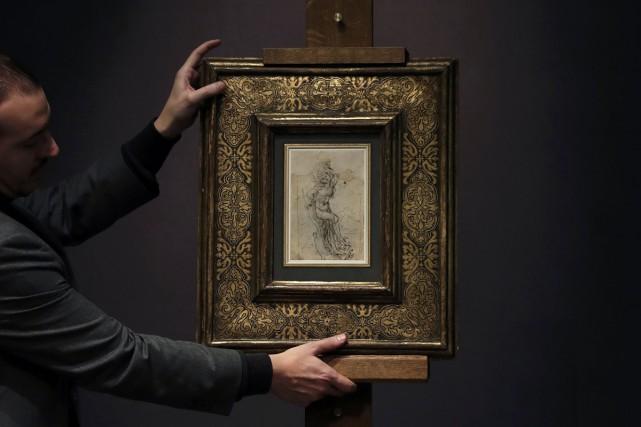 Quinze millions d'euros (21 millions $) pour une étude de Léonard de Vinci sur... (PHOTO REUTERS)