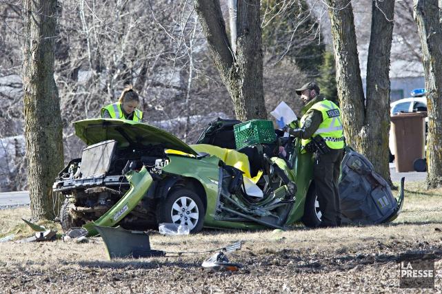 Le nombre de collisions mortelles a légèrement diminué en 2016 sur le... (Photo Patrick Sanfaçon, archives La Presse)