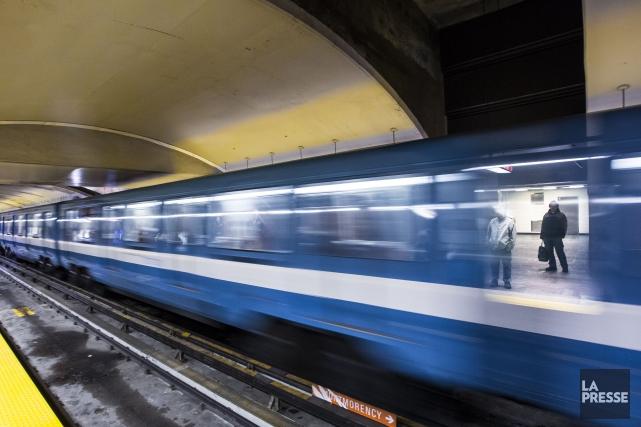 Une partie de la ligne verte du métro de Montréal est paralysée, cet... (Photo Olivier Pontbriand, archives La Presse)
