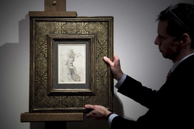 Une étude de Léonard de Vinci sur le... (AFP, Philippe Lopez)
