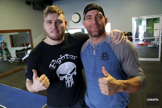 Adam Dyczka (à gauche) et Yan Pellerin sont... (Janick Marois, La Voix de l'Est)
