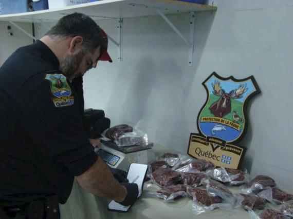 Les agents de la faune ont saisi 75kg... (tirée de Facebook)