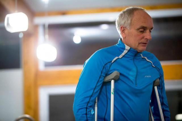 Benoit Vézina a été pris en chasse par... (PHOTO OLIVIER JEAN, LA PRESSE)