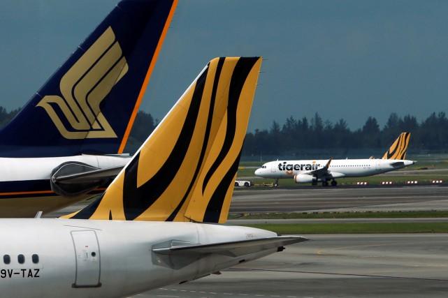 Des centaines de touristes bloqués jeudi à Bali après l'annulation de vols de... (PHOTO REUTERS)