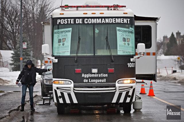 La police espère que le poste de commandement... (Patrick Sanfaçon, La Presse)