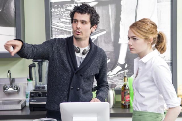 Damien Chazelle, ci-dessus avec l'actrice Emma Stone, aspirait... (Fournie par Les Films Séville)
