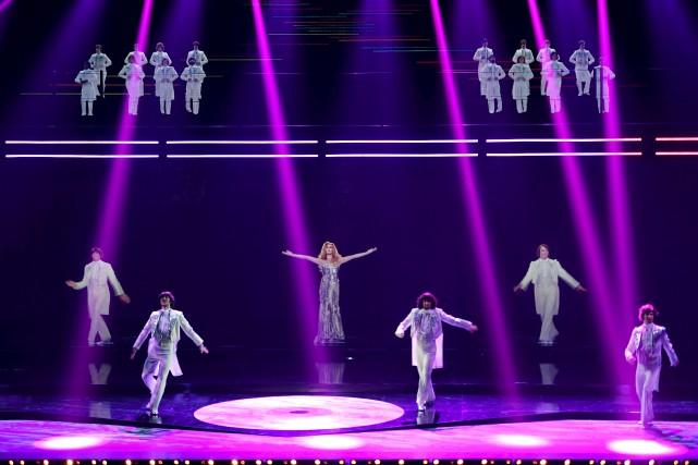 Un hologramme de la chanteuse Dalida, lors d'une... (AFP, Christophe Archambault)