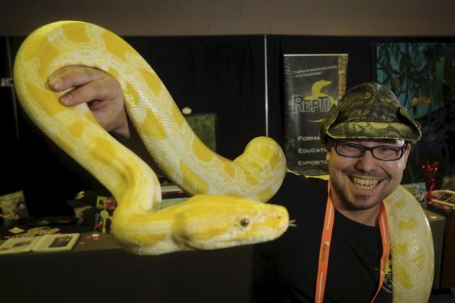 Mathieu Naud, alias Monsieur Reptile, obtient l'aide de... (François Gervais, Le Nouvelliste)