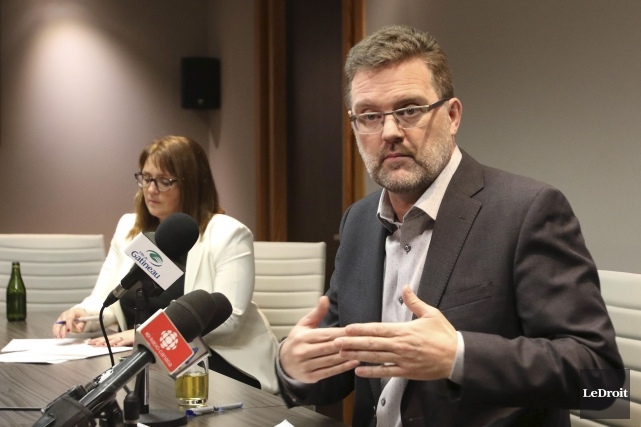 Le maire de Gatineau, Maxime Pedneaud-Jobin, est la... (Patrick Woodbury, Le Droit)