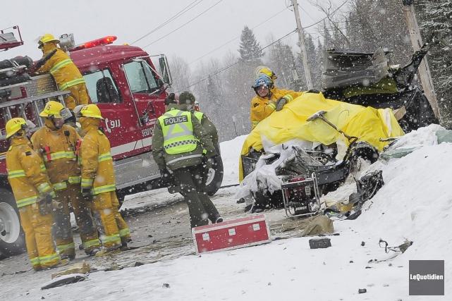 Un grave accident s'est produit sur la route... (Le Quotidien, Gimmy Desbiens)