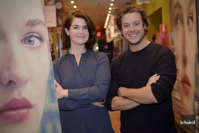 La réalisatrice Anne Émond et l'acteur Mickael Gouin,... (Le Soleil, Pascal Ratthé)