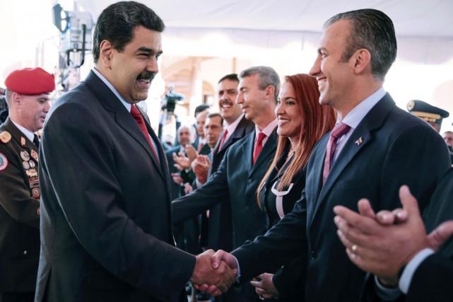 La désignation par Nicolas Maduro (à gauche) de... (AFP)