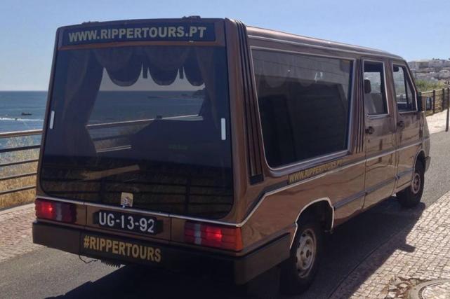 Le corbillarddes Rippers Tours, au Portugal.... (Photo tirée de Facebook)