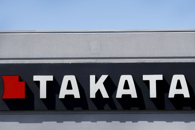 L'enseigne TAKATA telle que vue en mai 2015... (photo archives REUTERS)