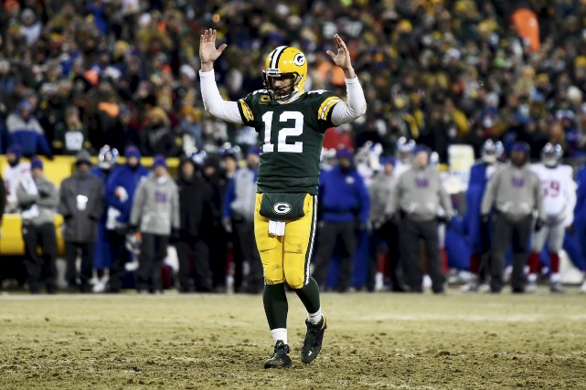 Aaron Rodgers... (Agence France-Presse)