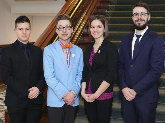 Les trois participants du Cégep de Trois-Rivières, Maverick...