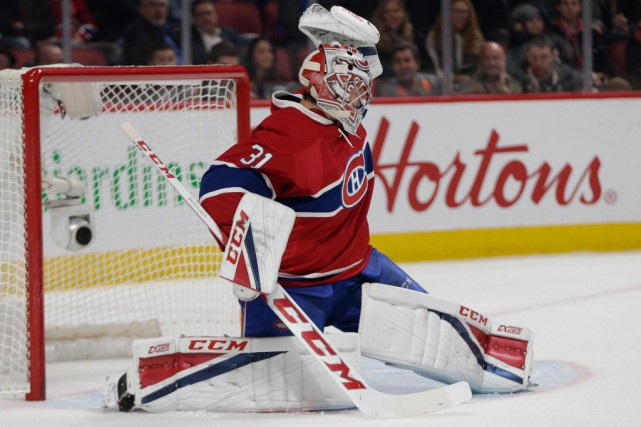 Carey Price a accordé sept buts au Wild... (Photo Olivier Jean, Archives La Presse)