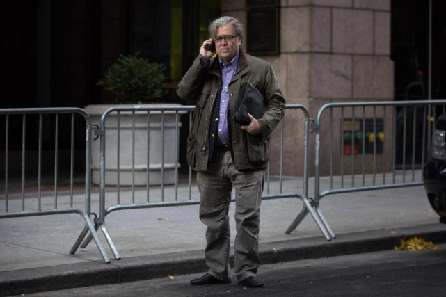 Steve Bannon, un des organisateurs de la campagne à... (PHOTO Kevin Hagen, archives Associated Press)