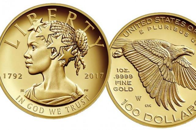 Les États-Unis vont frapper une pièce en or d'une valeur de 100 $ dont la Lady... (Photo tirée de Twitter)