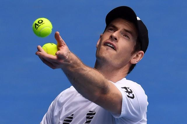 Andy Murray s'est incliné à cinq reprises enfinale... (PHOTO WILLIAM WEST, AFP)
