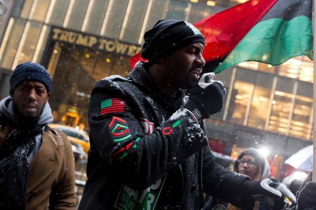 Hawk Newsome, un activiste de Black Lives Matter,... (AFP)