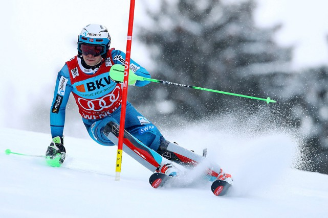 Henrik Kristoffersen... (Photo Alessandro Trovati, AP)
