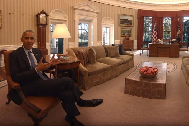 Dans la visite virtuelle de la Maison-Blanche réalisée... (Capture d'Écran tirée de la vidéo The People's House)