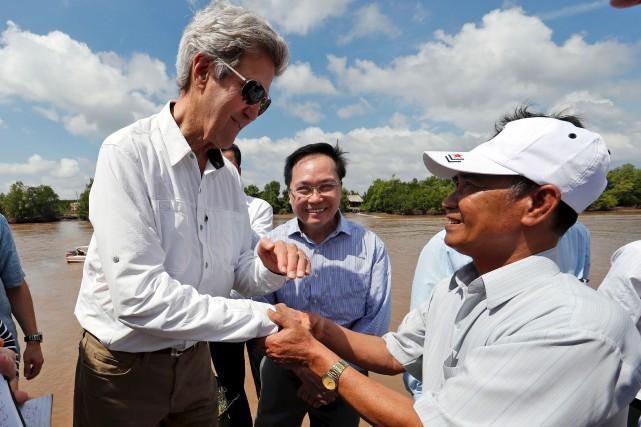 Le secrétaire d'État John Kerry, ex-lieutenant de la... (AFP, Alex Brandon)